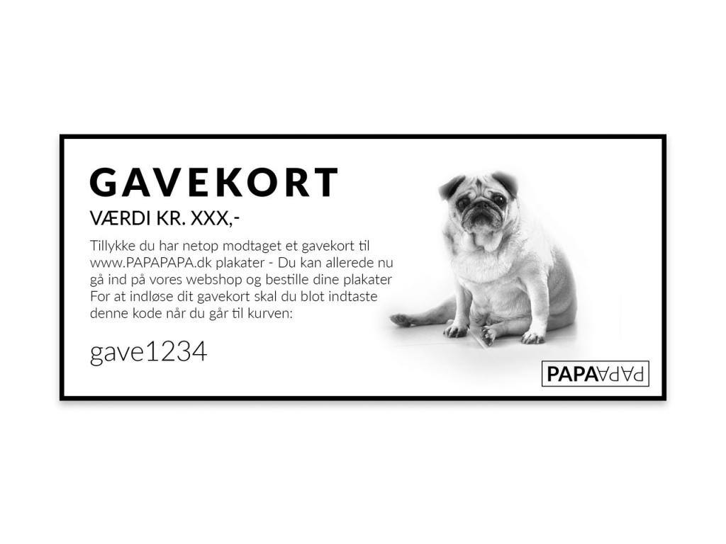 Gavekort til PAPAPAPA.dk