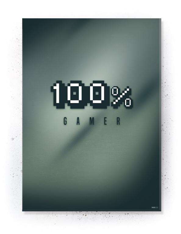 Plakat / Canvas / Akustik: 100% Gamer (Gamer)