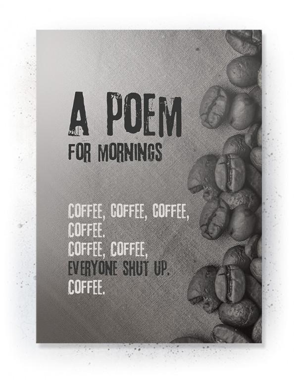 Plakat / Canvas / Akustik: Poem for mornings (Off-White)