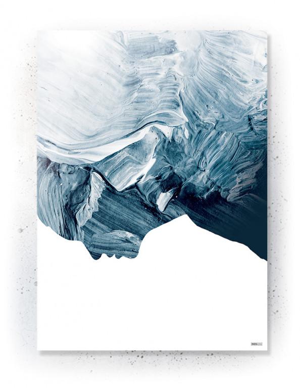 Plakat / Canvas / Akustik: Abstract (Indigo)