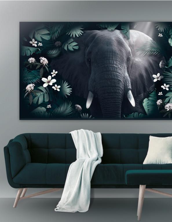 Plakat / Canvas / Akustik: Elephant in Jungle (Animals / Panorama)