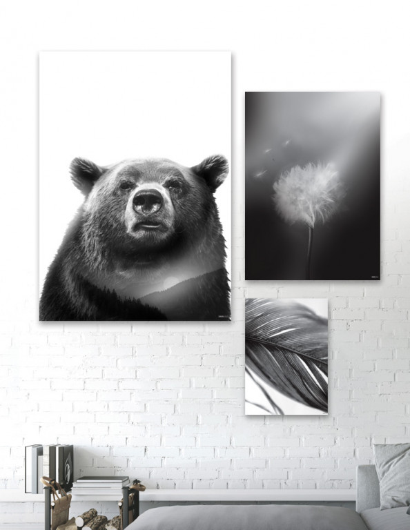 Plakat / Canvas / Akustik: Black No. 1 (Black)