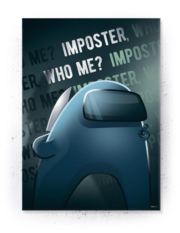 Plakat / Canvas / Akustik: Blue Imposter / Among Us (Gamer)