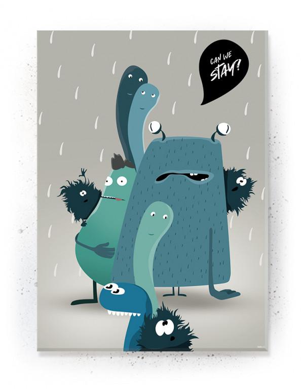 Plakat / Canvas / Akustik: Sjove monstre (Fantasifulde Væsner)