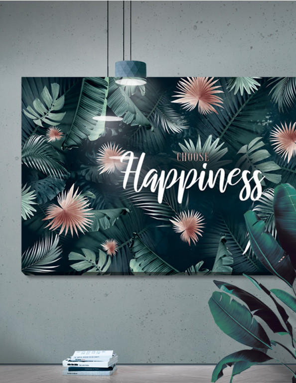 Plakat / canvas / akustik: Choose Happiness / Panorama (Juncture)