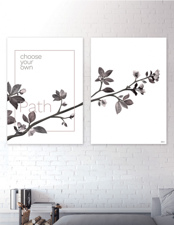 Plakat / canvas / akustik: Choose your own Path (Faded)