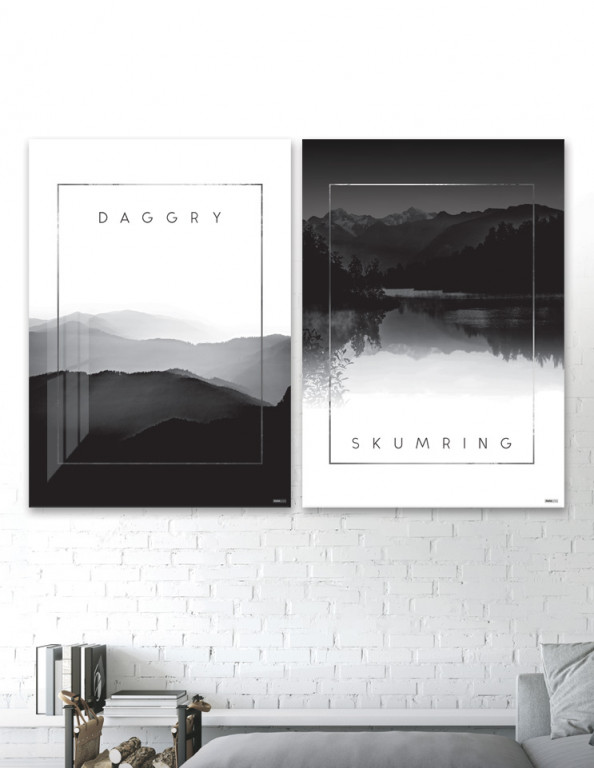 Plakat / Canvas / Akustik: Daggry & Skumring (Black)