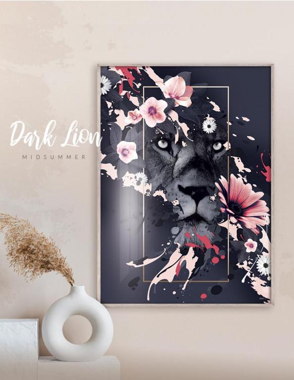 Plakat / canvas / akustik: Dark Lion (MIDSOMMER)