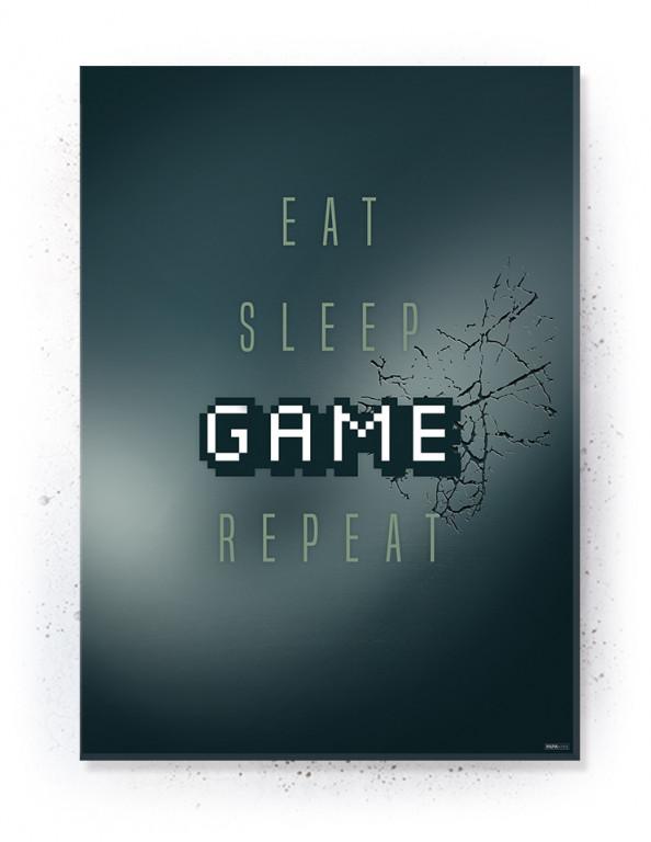 Plakat / Canvas / Akustik: Eat, Sleep, Game, Repeat (Gamer)