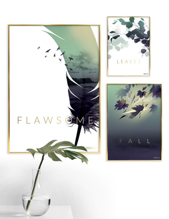 Plakat sæt: FALL NO. 1 (3 pak)