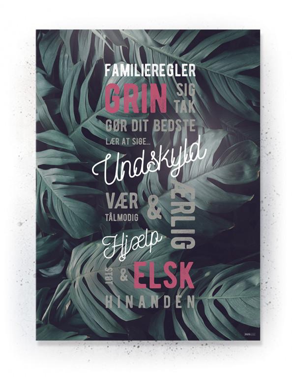 Plakat / Canvas / Akustik: Familieregler (Quote Me)
