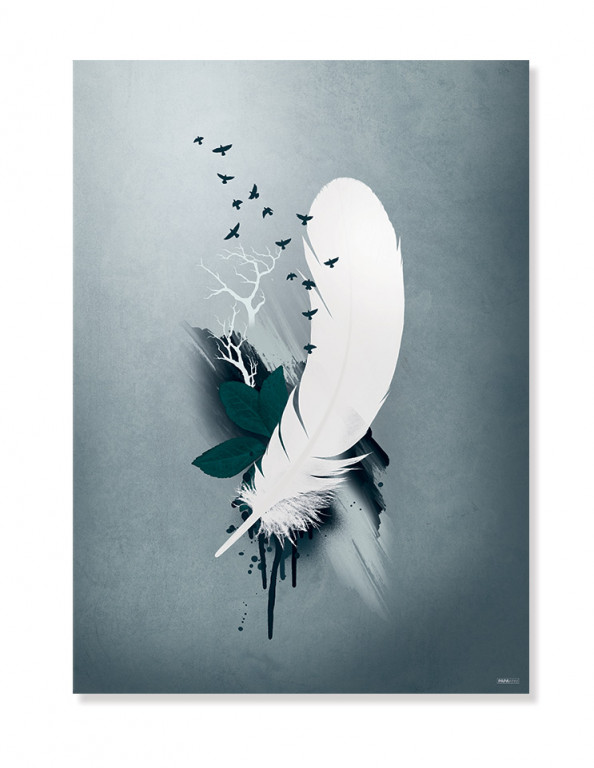 Plakat/Canvas: Feather and Birds (Earth)