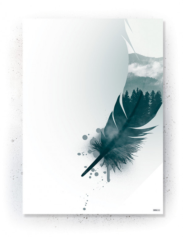 Plakat / Canvas / Akustik: Feather II (Thoughts)