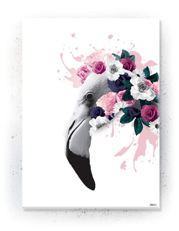 Plakat / Canvas / Akustik: Flamingo (Floral)