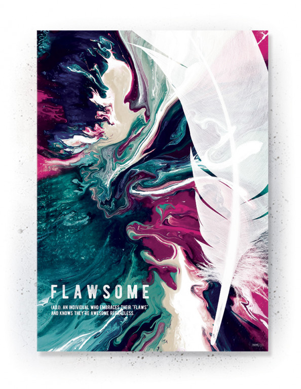Plakat / canvas / akustik: Flawsome 2 (Colorize / Love)