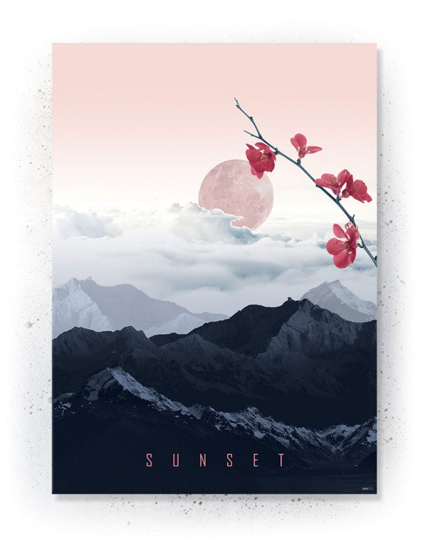 Plakat / canvas / akustik: Flower Sunset (MIDSOMMER)