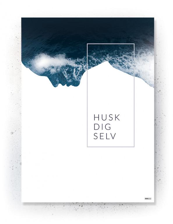Plakat / Canvas / Akustik: Husk Dig Selv (Indigo)