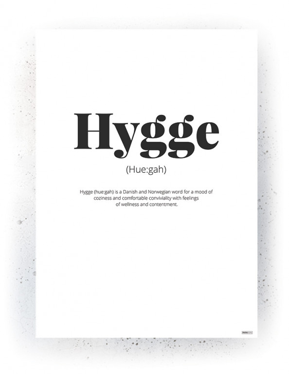 Plakat / Canvas / Akustik: Hygge (Quote Me)