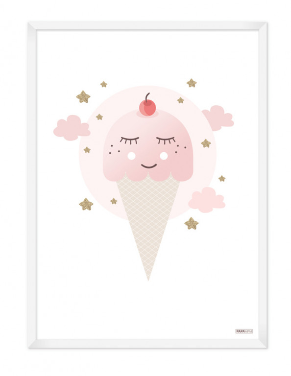 Plakat: Icecream (Pigeværelset)
