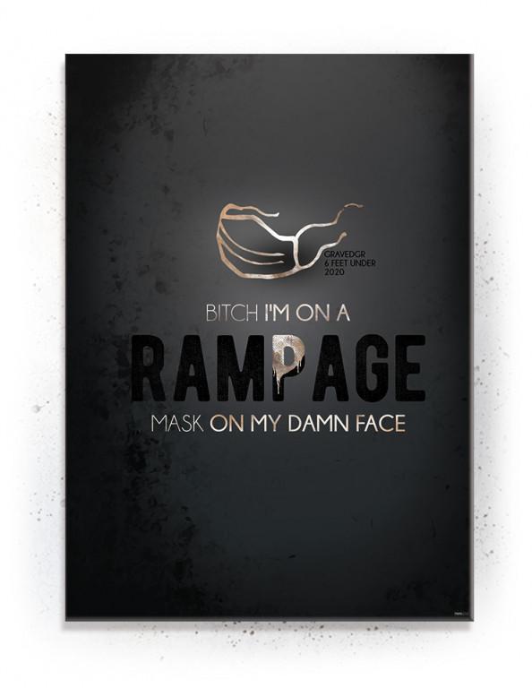 On a Rampage - Mask on my (Black Gold) - plakat eller Lærredsprint