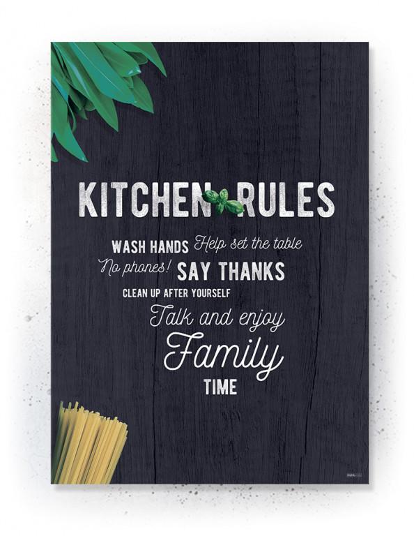 Plakater / Canvas / Akustik: Kitchen Rules (Kitchen)