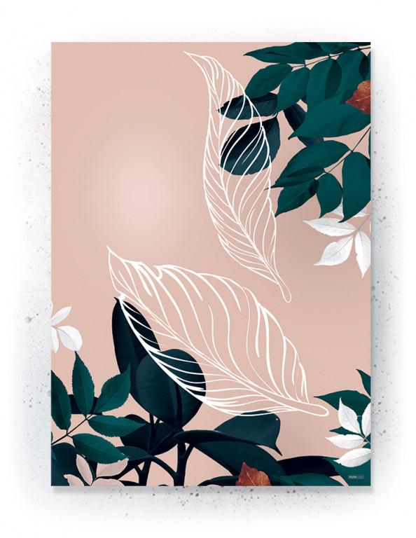 Plakat / CANVAS: Leaves 3 (Earth)