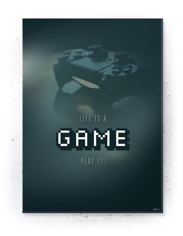 Plakat / Canvas / Akustik: Life is a Game (Gamer)