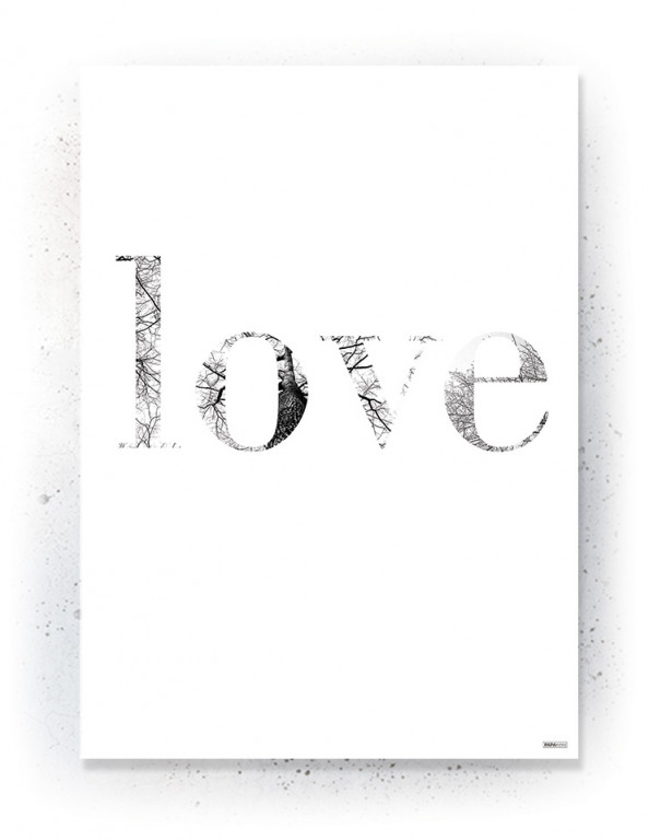 Plakat / Canvas / Akustik: LOVE (Black)