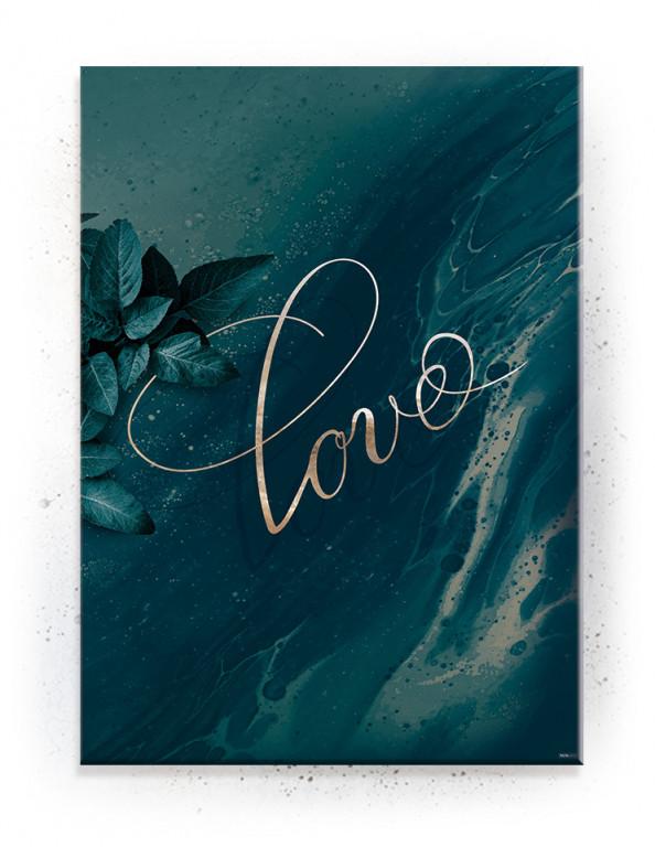 Plakat / canvas / akustik: Love (Bright)