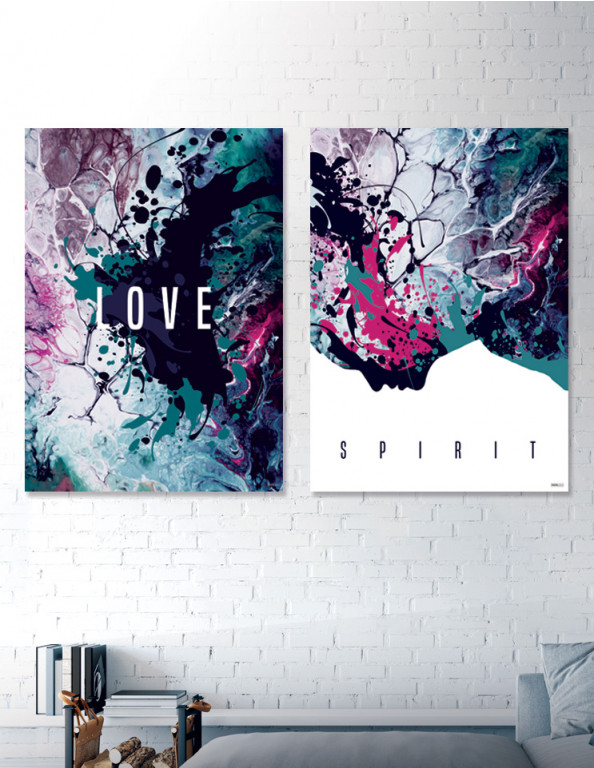 Plakat / canvas / akustik: Love & Spirit (Colorize / Love)