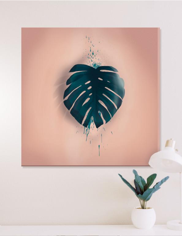 Plakat / Canvas / Akustik: Monstera Leaf (Earth)