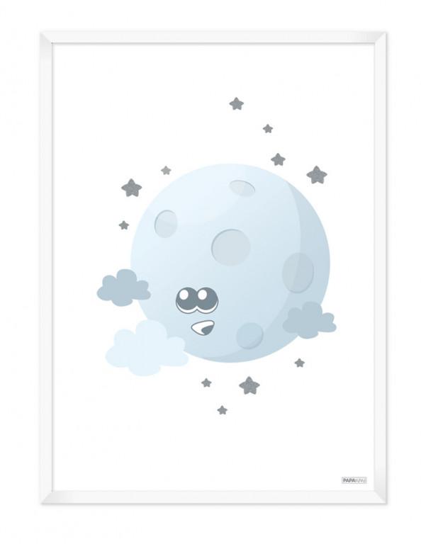 Plakat: Måne (Drengeværelset)