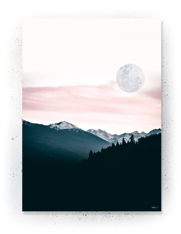 Plakat / CANVAS: Moon (Earth)
