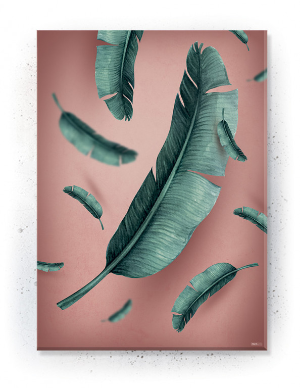Plakat / canvas / akustik: Jungle Leaves / Rosa (Juncture)