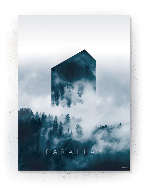 Plakat / Canvas / Akustik: Parallax (Indigo)