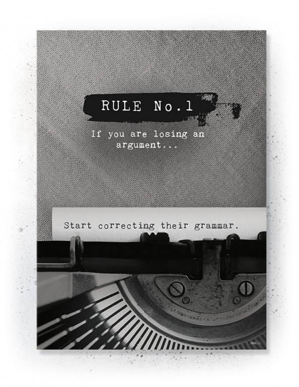 Plakat / Canvas / Akustik: Rule No. 1 (Off-White)