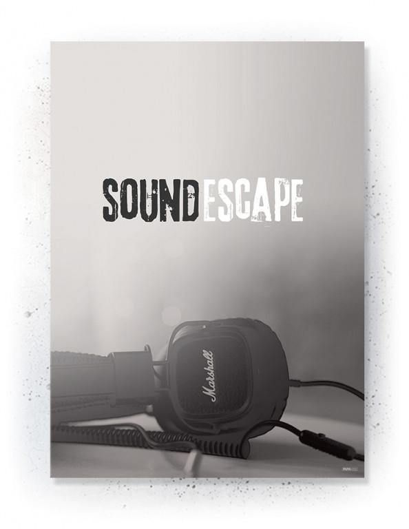 Plakat / Canvas / Akustik: Sound Escape (Off-White)