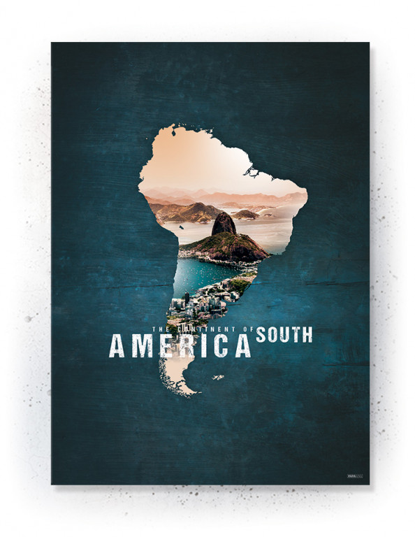 Poster / canvas / acoustic: South America (Continents of the World)