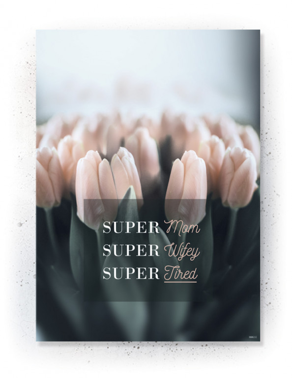 Plakat / canvas / akustik: Super MOM (Earth)