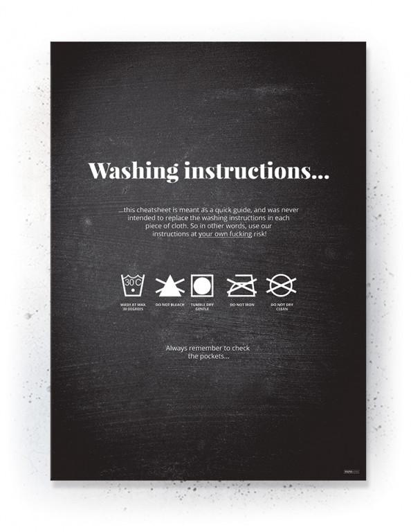 Plakat / Canvas / Akustik: Washing instructions (Quote Me)
