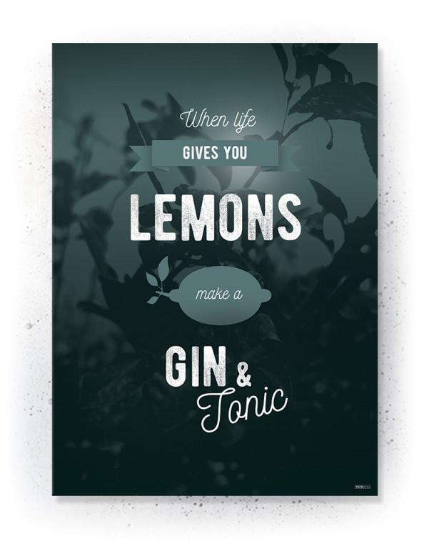 Plakat / Canvas / Akustik: When life gives you lemons (Thoughts)