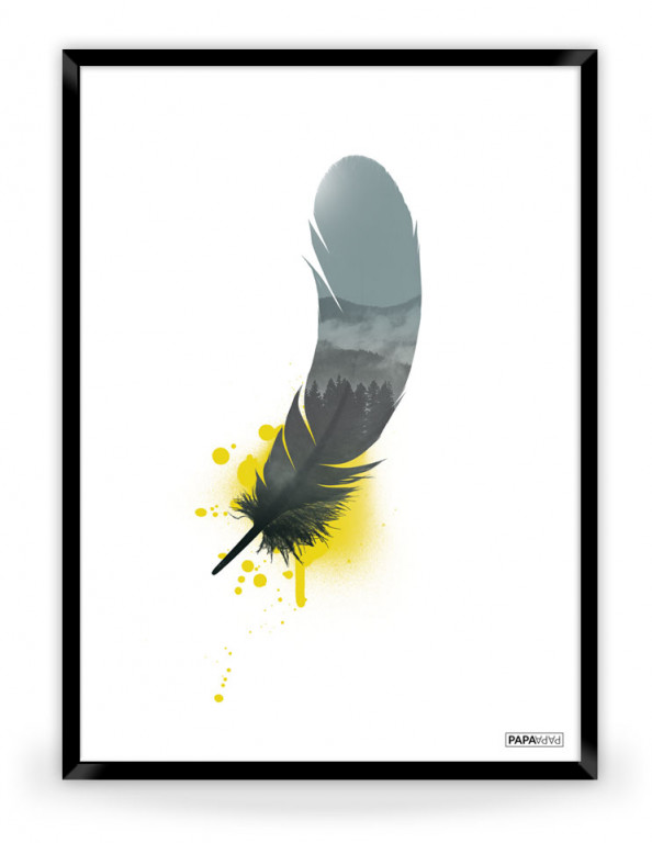 Plakat: Feather (Yellow Nature)