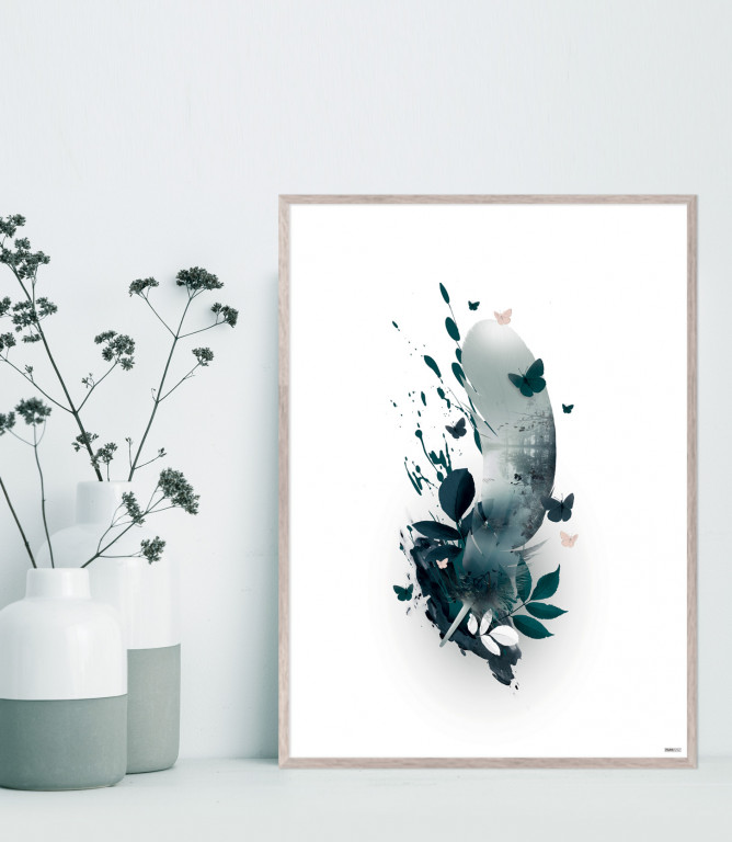Plakat / CANVAS: Feather 2 (Earth)