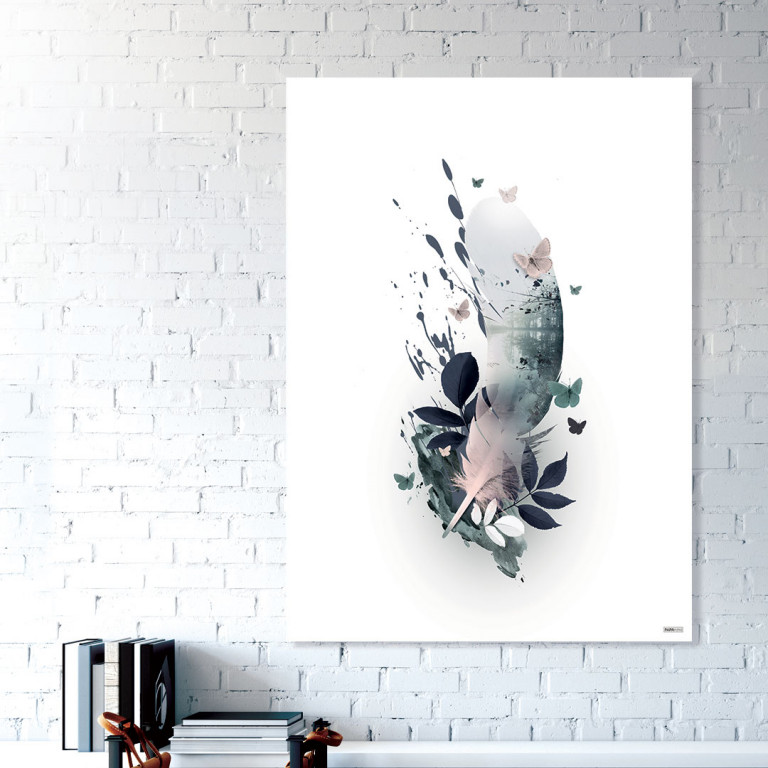 Plakat/Canvas: Feather 2 (BRIGHT)
