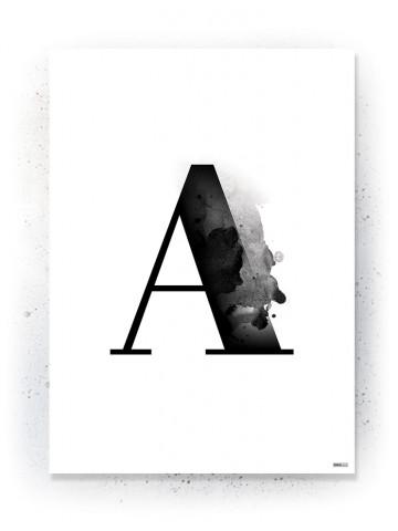 Plakat / Canvas / Akustik: Bogstavet A (Black)