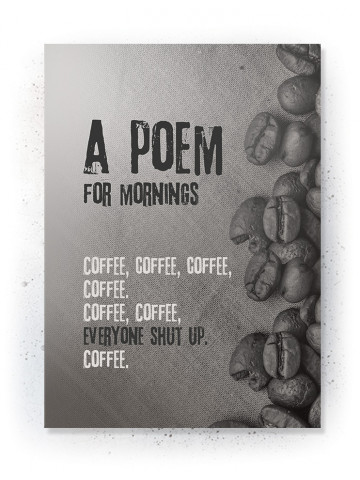 Plakat / Canvas / Akustik: Poem for mornings (Off-White)