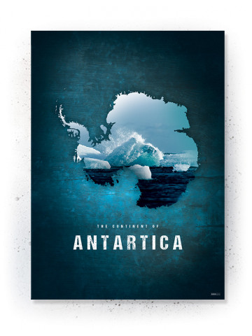 of the WorldPlakat / Canvas / Akustik: Antartica (Continents)