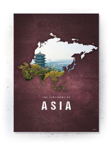 Poster / canvas / acoustic: Asia (Continents of the World)