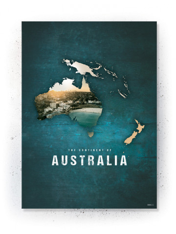Poster / canvas / acoustic: Australia (Continents of the World)