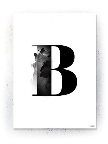Plakat / Canvas / Akustik: Bogstavet B (Black)